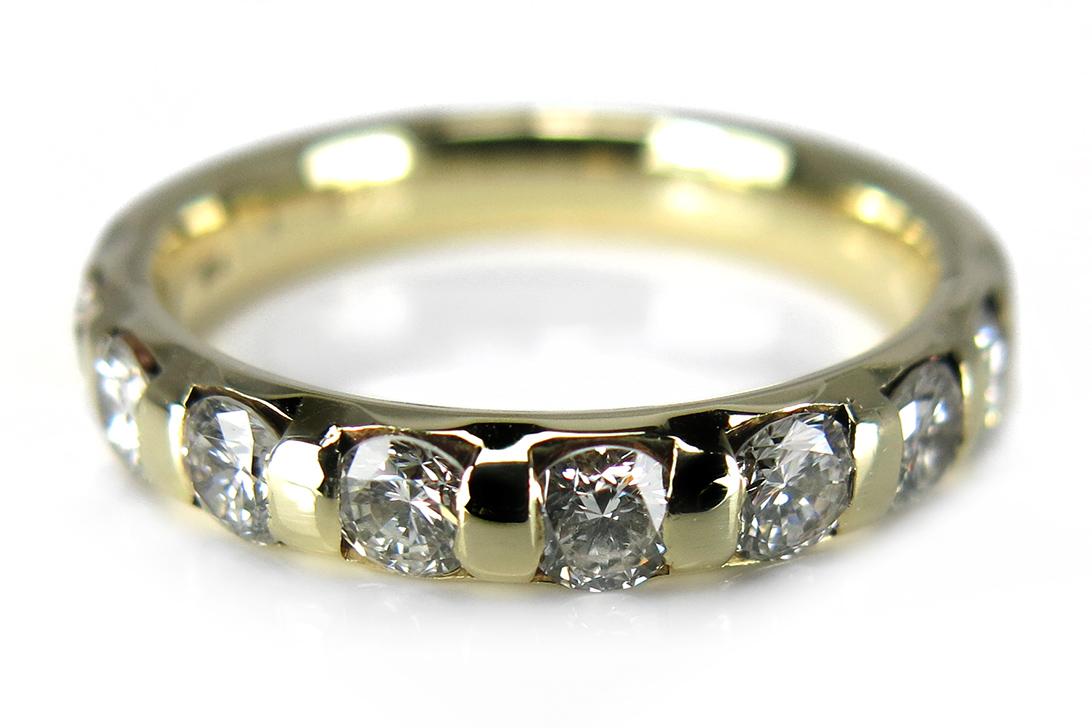 damen ring mit brillanten wesselton 585 gelbgold brors 12320 ebay. Black Bedroom Furniture Sets. Home Design Ideas