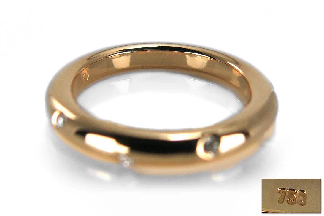 ring mit brillanten top wesselton vvs 750 gelbgold brors 13009 ebay. Black Bedroom Furniture Sets. Home Design Ideas