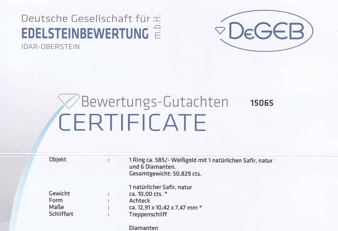 Ring-Brillanten-insg-0-36ct-G-H-vvsi-vsi-Saphir-DeGEB-Gutachten-BRORS-15729 Indexbild 5