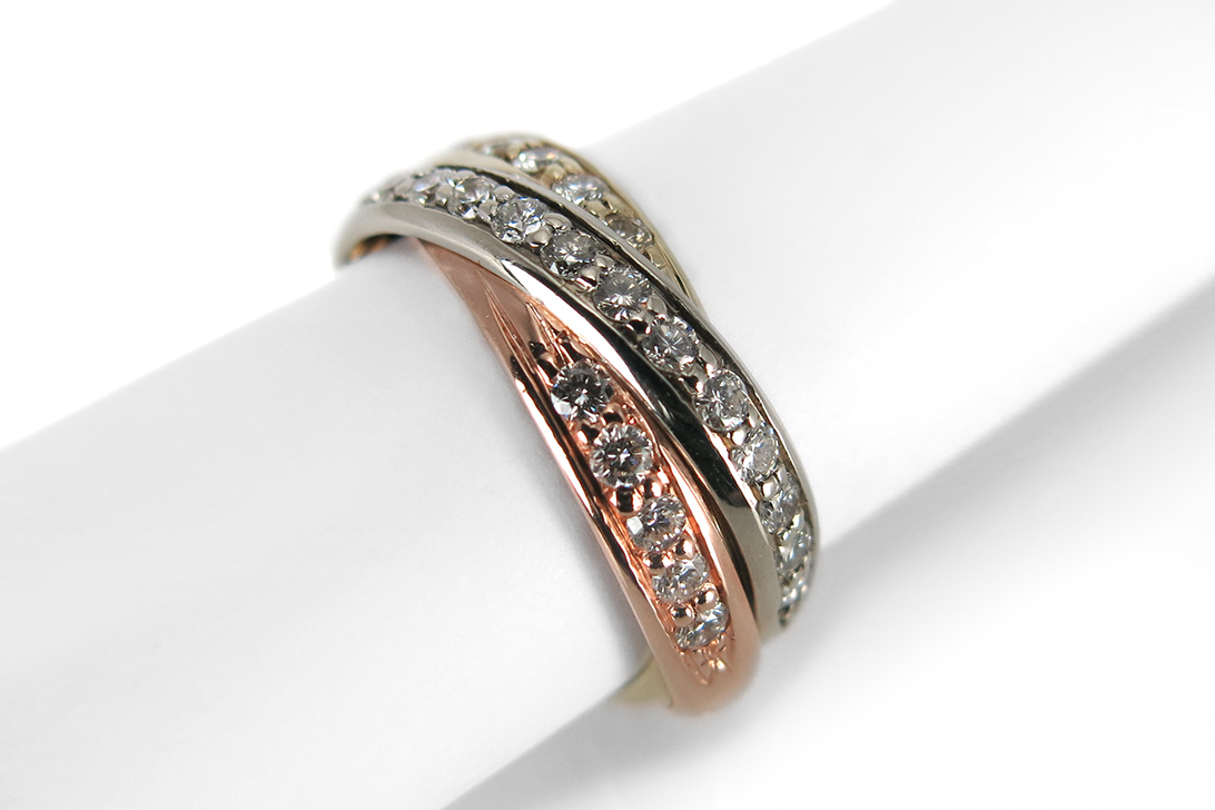 Ring-Brillanten-insg-0-40ct-H-vs-585-Gelbgold-Weissgold-Rotgold-BRORS-16052 Indexbild 2