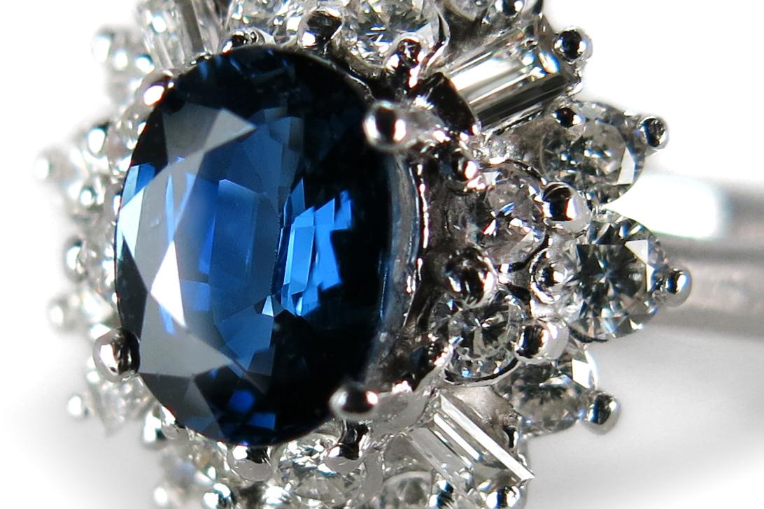 Ring-Saphir-ca-1-0-ct-Diamanten-insg-0-82-ct-G-vs-585-Weissgold-BRORS-16475 Indexbild 3
