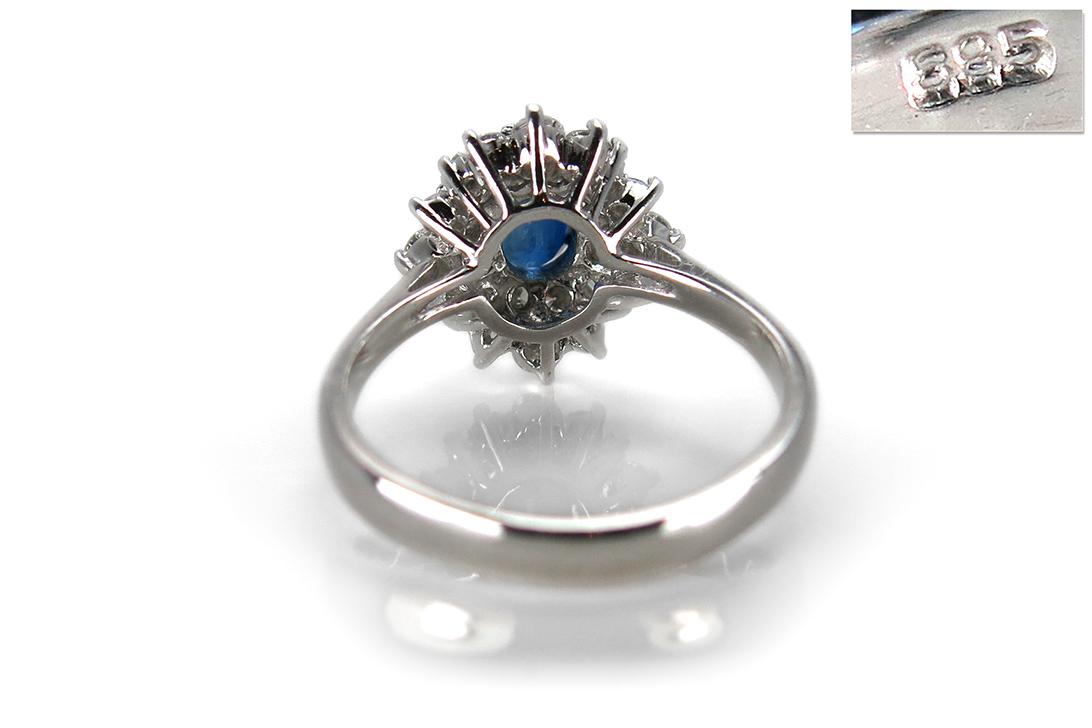 Ring-Saphir-ca-1-0-ct-Diamanten-insg-0-82-ct-G-vs-585-Weissgold-BRORS-16475 Indexbild 4