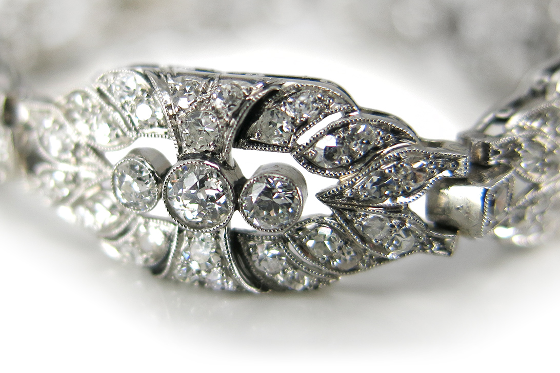 Antikes-Art-Deco-Diamantarmband-238-Diamanten-ca-2-5-ct-BRORS-17200 Indexbild 3