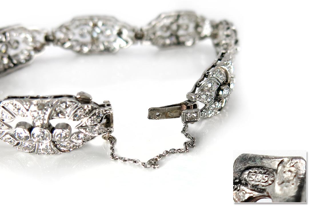 Antikes-Art-Deco-Diamantarmband-238-Diamanten-ca-2-5-ct-BRORS-17200 Indexbild 4