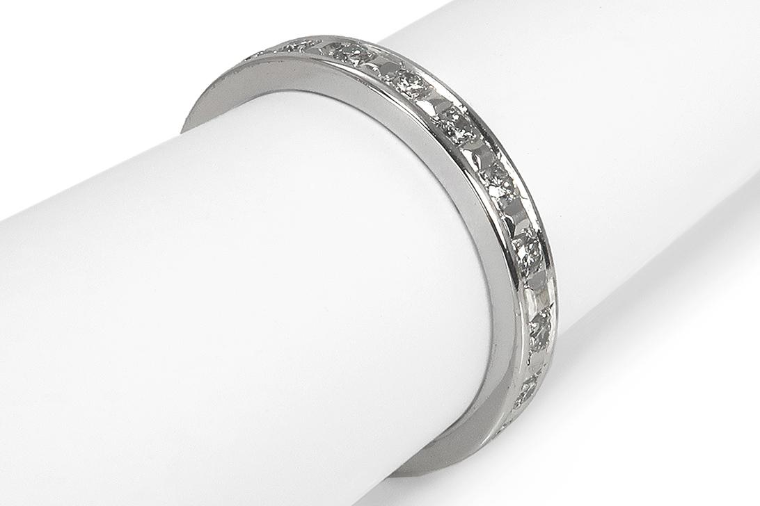 Memory-Ring-21-Brillanten-insg-ca-0-17-ct-H-vs-585-Weissgold-BRORS-17222 Indexbild 2