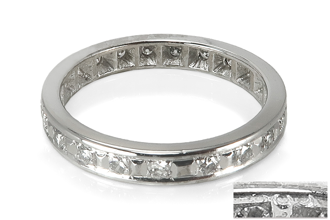 Memory-Ring-21-Brillanten-insg-ca-0-17-ct-H-vs-585-Weissgold-BRORS-17222 Indexbild 4